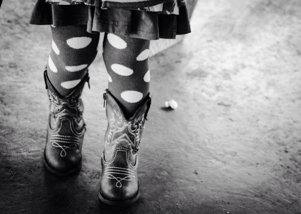 Cowboy Boots and Polka Dot Tights